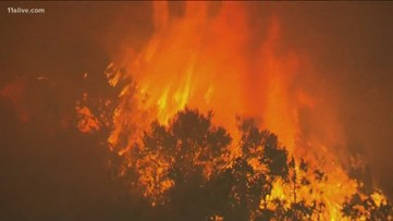Raging wildfires forces residents to leave homes