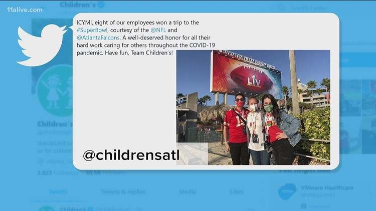 Children's Healthcare of Atlanta employees attend Super Bowl LV in Tampa