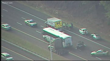 Transit bus involved in accident on I-20