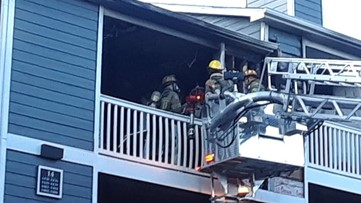 Fire damages balconies at Gwinnett apartment complex