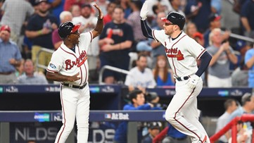 Atlanta Braves slip past Dodgers in NLDS, force Monday Game 4 at home