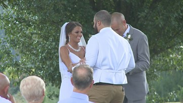 Nearly four years after paralyzing accident, bride walks down the aisle at her wedding