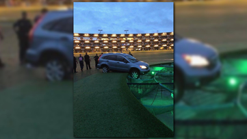 Police have to rescue driver of stolen car after getting stuck on TopGolf driving range