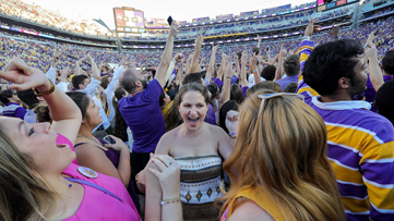 LSU fined $100,000 after fans storm field in win over Georgia