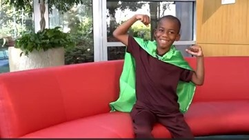 Capes made 8-year-old patient feel strong, even when his body was weak