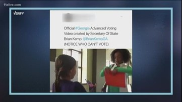 VERIFY: Did Georgia Secretary of State's Office create voting video being criticized as racist?