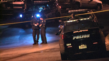 Police searching for man who tried to 'break up' fight with gunfire | Woman critical