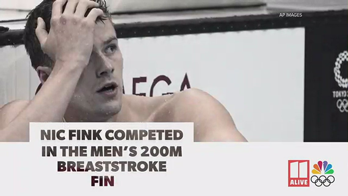 Nic Fink competes in Men's 200m breaststroke final | Tokyo Olympics