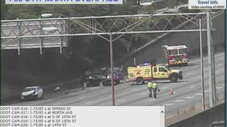I-85 northbound wreck just before Buford Highway