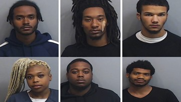 6 alleged gang members arrested after armed carjackings, robberies