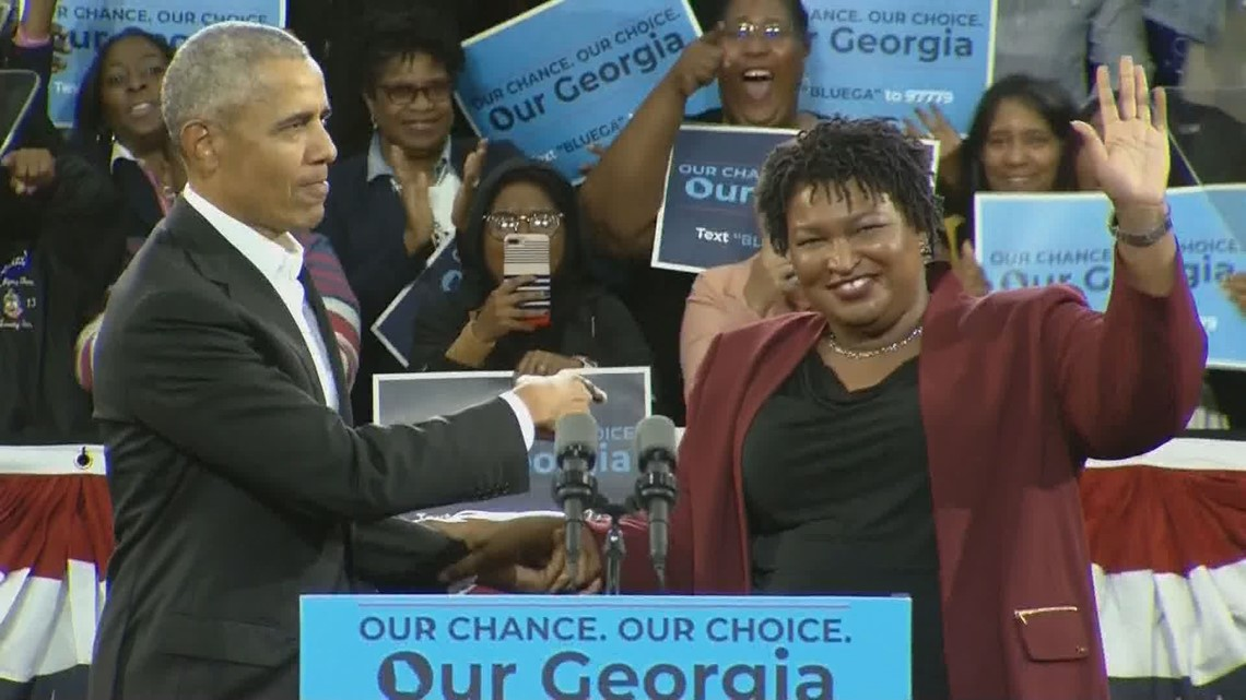 Gas Companies In Georgia >> WATCH: Barack Obama campaigns for Stacey Abrams in Atlanta | 11alive.com