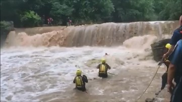 Several children rescued from rapids over swollen Georgia river