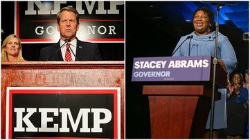 Stacey Abrams takes more of Brian Kemp's lead in Georgia's governor race