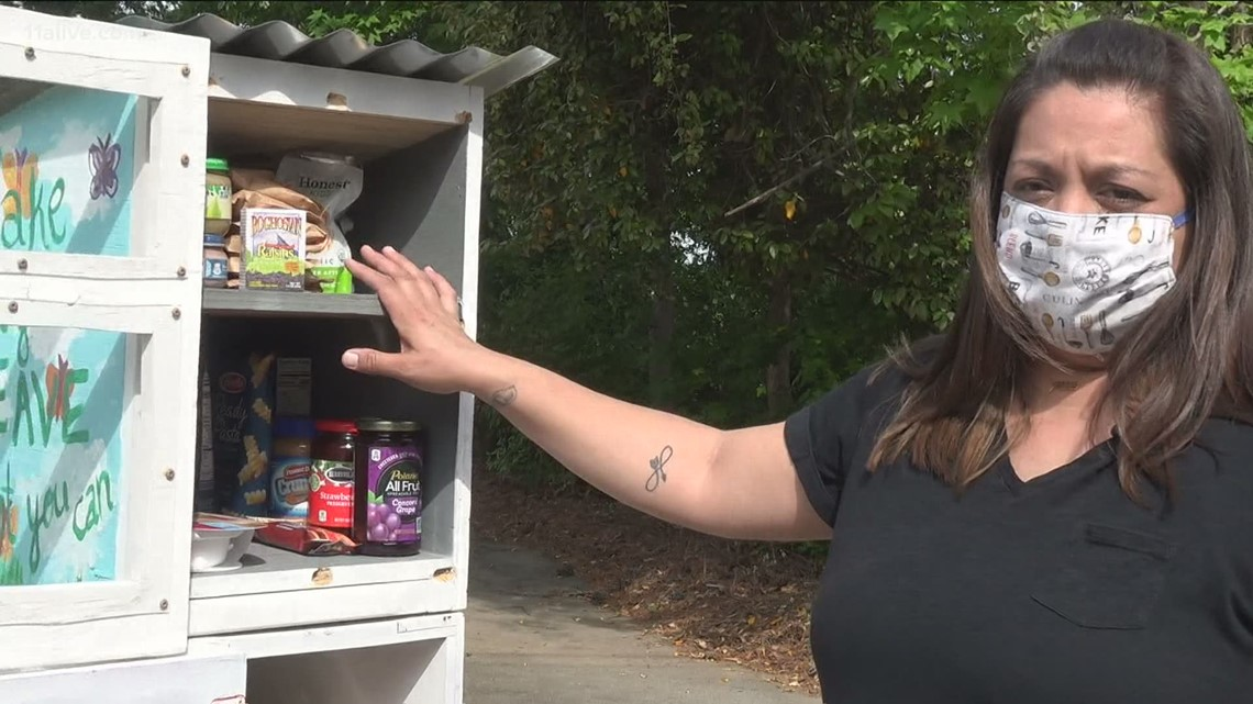 Woman creates 'Little Free Pantry' in Roswell