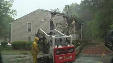 Tree topples onto Gwinnett apartment injuring one
