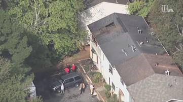 AERIAL VIDEO: Scene of fatal Cobb County condo fire