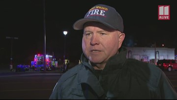 Sandy Springs Fire Chief responds to fire at shut down strip club