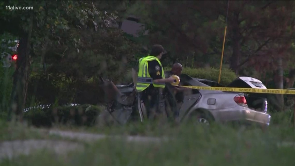 Driver dies in fiery west Atlanta crash going 100 mph