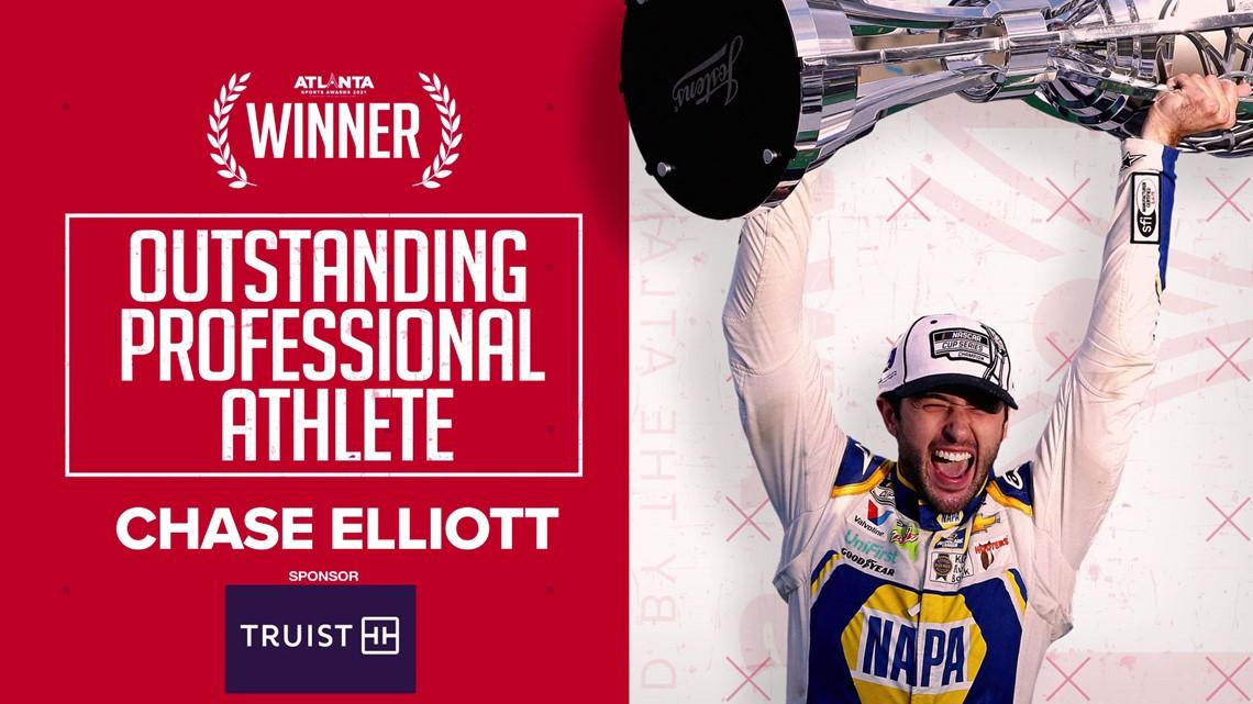 NASCAR's Chase Elliott named top professional athlete during 2021 Atlanta Sports Awards