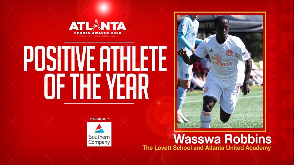 Atlanta Sports Awards | Local soccer player Wasswa Robbins awarded Positive Athlete Award
