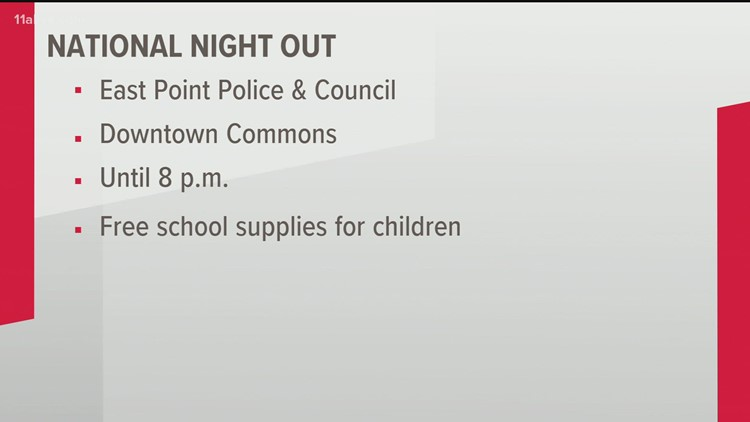 East Point Police invites community to 'National Night Out'