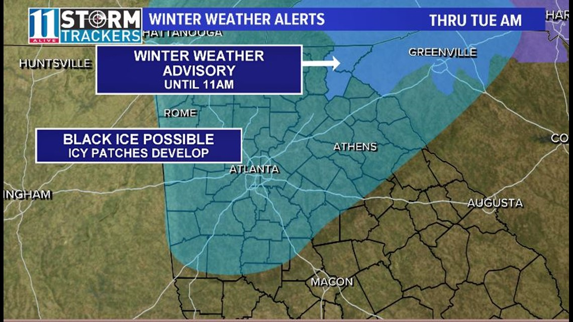Monitoring potential for icy patches to develop