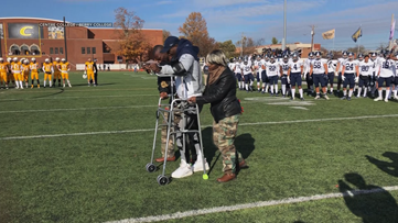 Berry College football player walks after paralyzing injury