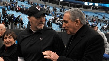 Arthur Blank standing by his man Dan Quinn - for now