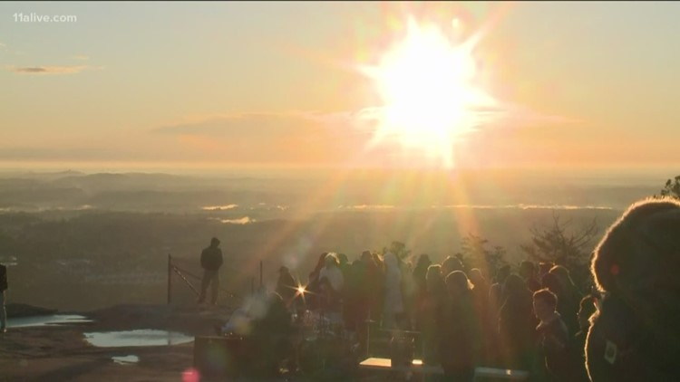 Thousands gather at Stone Mountain Park for Easter Sunrise Service