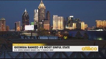 Georgia Ranked 5th Most Sinful State