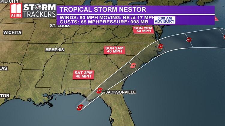 Tropical Storm Nestor gets closer to Florida