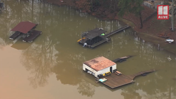 Lake Lanier has reached its second-highest level in history