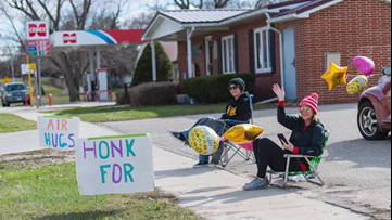'Spread love and kindness': Friends give air hugs for honks