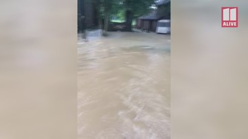 Rain and flood waters inundate parts of Peachtree City