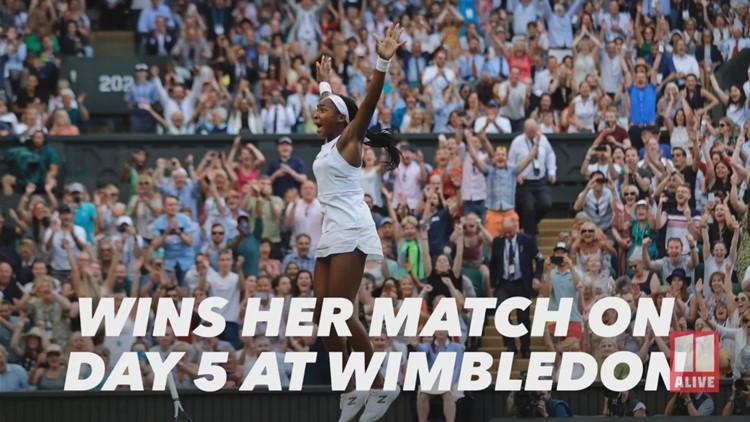Coco Gauff wins match on day 5 of Wimbledon