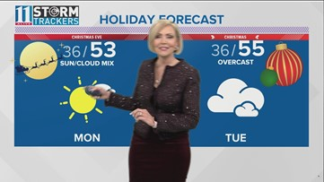 Here's your forecast for the weekend, Christmas