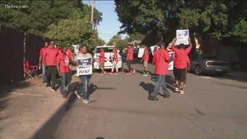 AT&T union workers out on strike