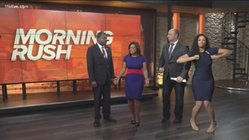 Morning Rush anchors react to Falcons win over Saints