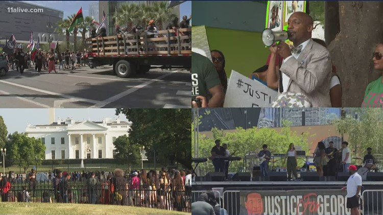 Marches held across the country to remember George Floyd death - 1 year later