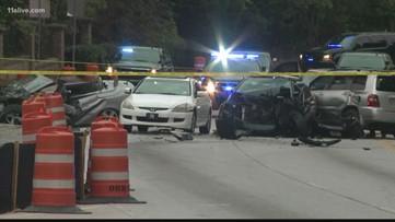 DeKalb Police car involved in multi-vehicle crash