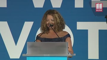 Congresswoman Lucy McBath shares her son's story at DNC fundraiser