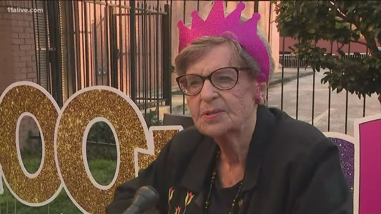 Family celebrates Atlanta woman's 100th birthday with socially-distanced celebration, car parade