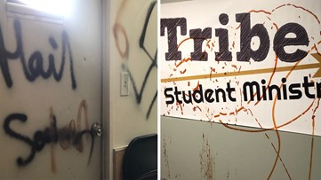 Teens arrested after Cherokee County church tagged with graffiti, robbed