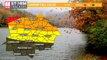 The peak period of fall colors begin this weekend