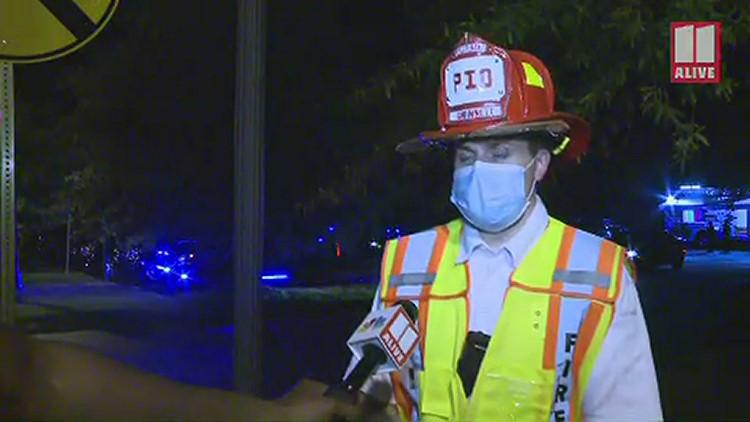 Train derailment, chemical fire in Lilburn