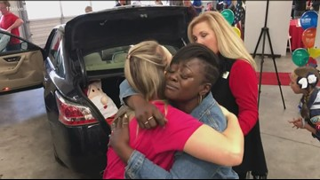 Local veteran receives new car full of gifts