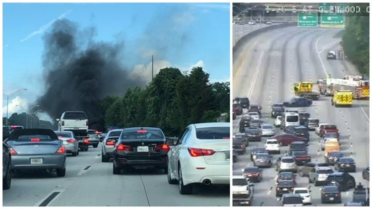 Lanes reopen after vehicle fire slows traffic on I-20