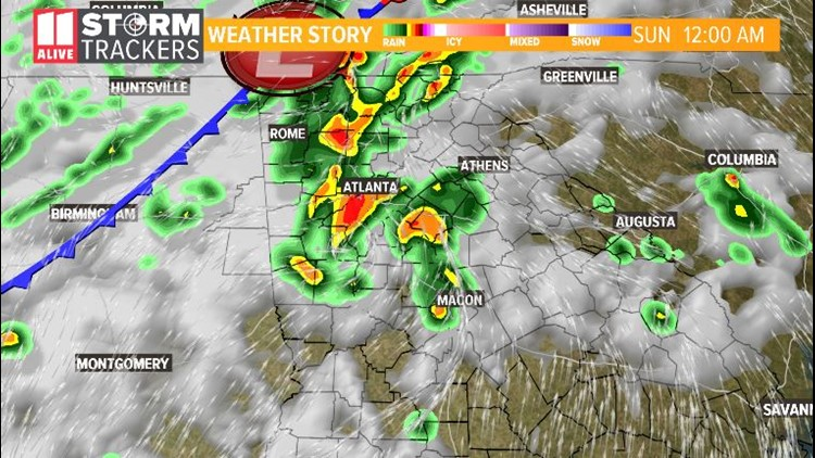Stormy, possibly severe weather today   11alive com