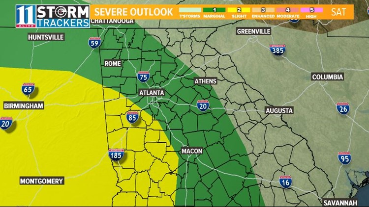 TIMELINE | When to expect Saturday's severe weather and Sunday's icy blast