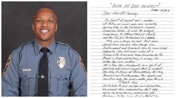 Gwinnett inmates send condolences to family of fallen officer